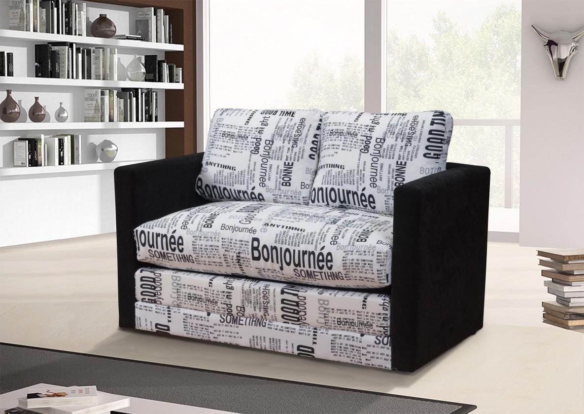 Bazar sedací soupravy Dream - dvojsedák (bonjournee-microfiber black, sk. DR-1)
