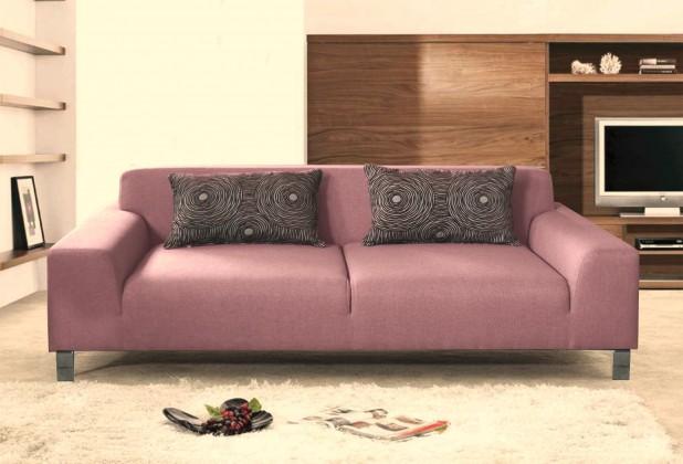 Bazar sedací soupravy Dvojsedák Mirage (mustang 16, fialová/růžová, látka)
