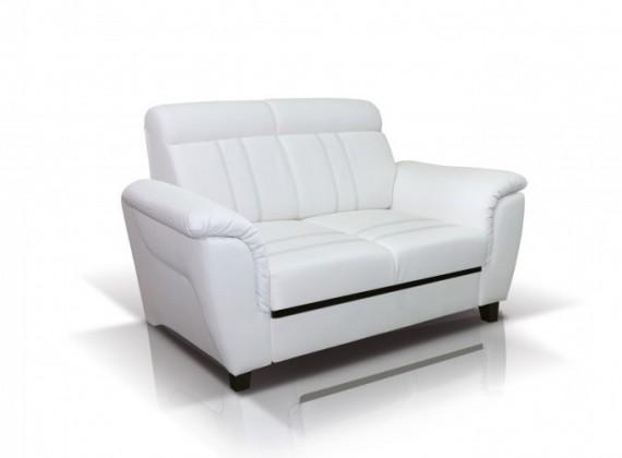 Bazar sedací soupravy Dvojsedák Scala (eko kůže, bílá)