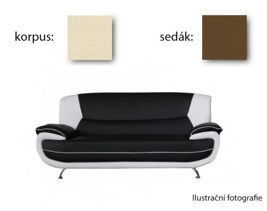 Bazar sedací soupravy Edit - trojsedák (madrid 112/madrid 124)