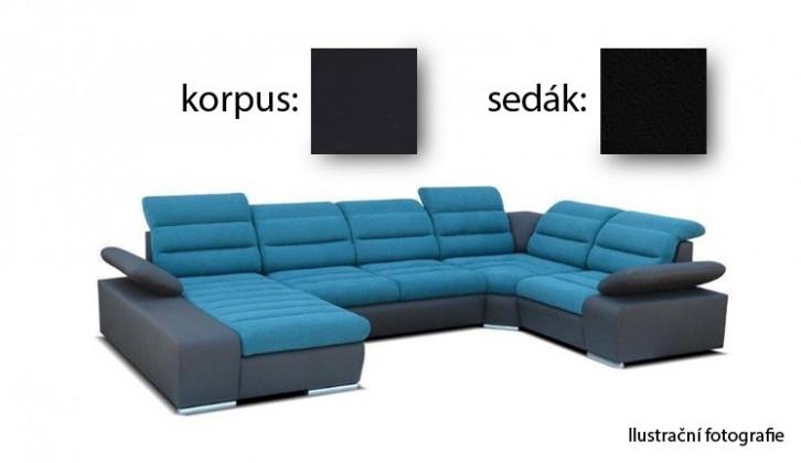 Bazar sedací soupravy Korfu II - levý roh, 4 + relax (soft 11 / aruba 19)