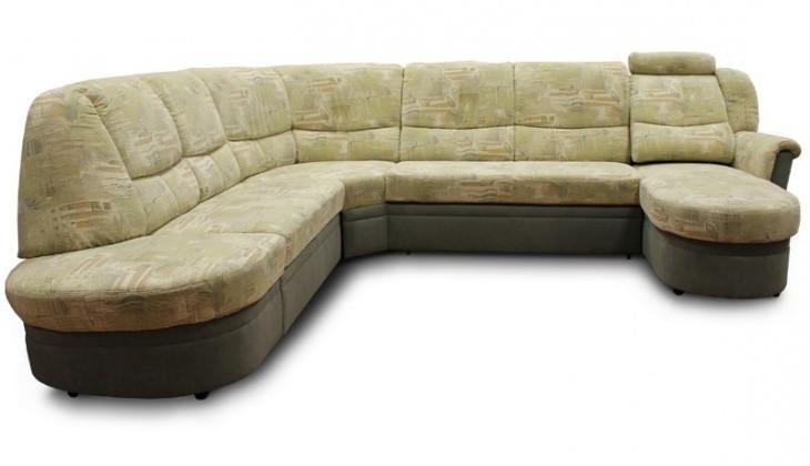 Bazar sedací soupravy Planpolster, roh levý (tanja opium lind,korpus/tanja grün,sedák)