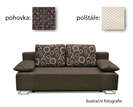 Bazar sedací soupravy Sára - Pohovka (kalinka wenge, pohovka, područky/cross 21)