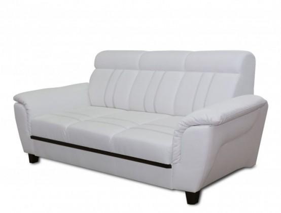 Bazar sedací soupravy Trojsedák Scala (eko kůže, bílá)