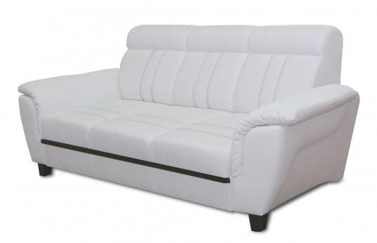 Bazar sedací soupravy Trojsedák Scala (soft 031, bílá, eko kůže)