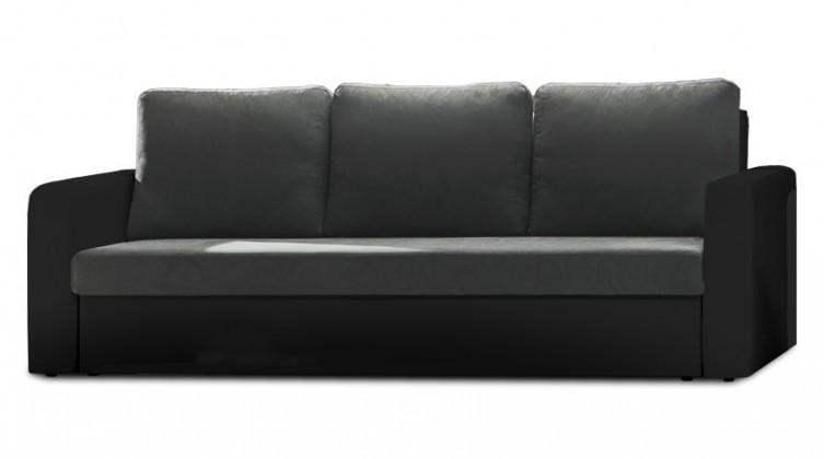 Bazar sedací soupravy Venus - Trojsedák (microfiber dark grey, sedák/pvc black,korpus)