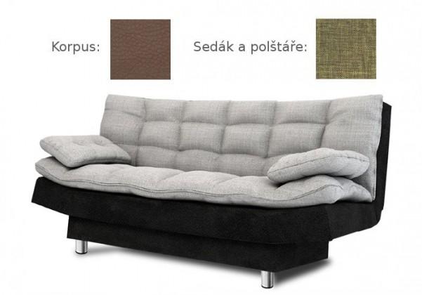 Bazar sedací soupravy Wenus (sawana 25 sk. C sedák + polštáře/madryt 128 sk. C korpus)