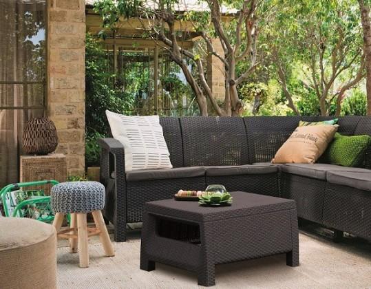 Bazar zahrada Corfu - Relax set (černá)