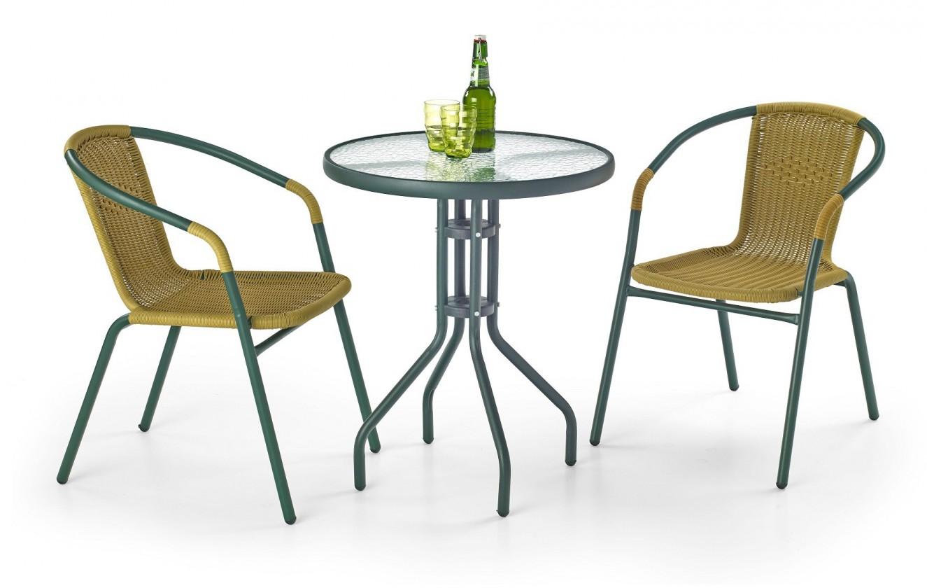 Bazar zahrada Grand 60 - Zahradní stolek (tmavě zelený)