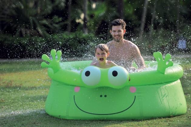 Bazén, příslušenství Žába - Dětský nafukovací bazén, 175x62 cm (zelená)