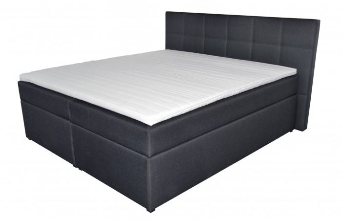 postel boxspring bea 200x200 amber anthracit jena n bytek. Black Bedroom Furniture Sets. Home Design Ideas