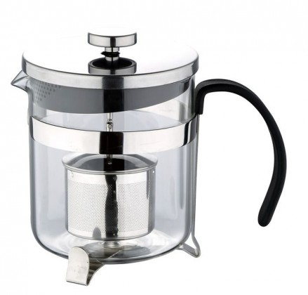 Bergner - presovač čaj, káva, nerez (stříbrná)