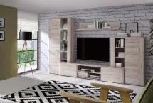 Big Bang - Obývací stěna s osvětlením (D41 dub pískový)