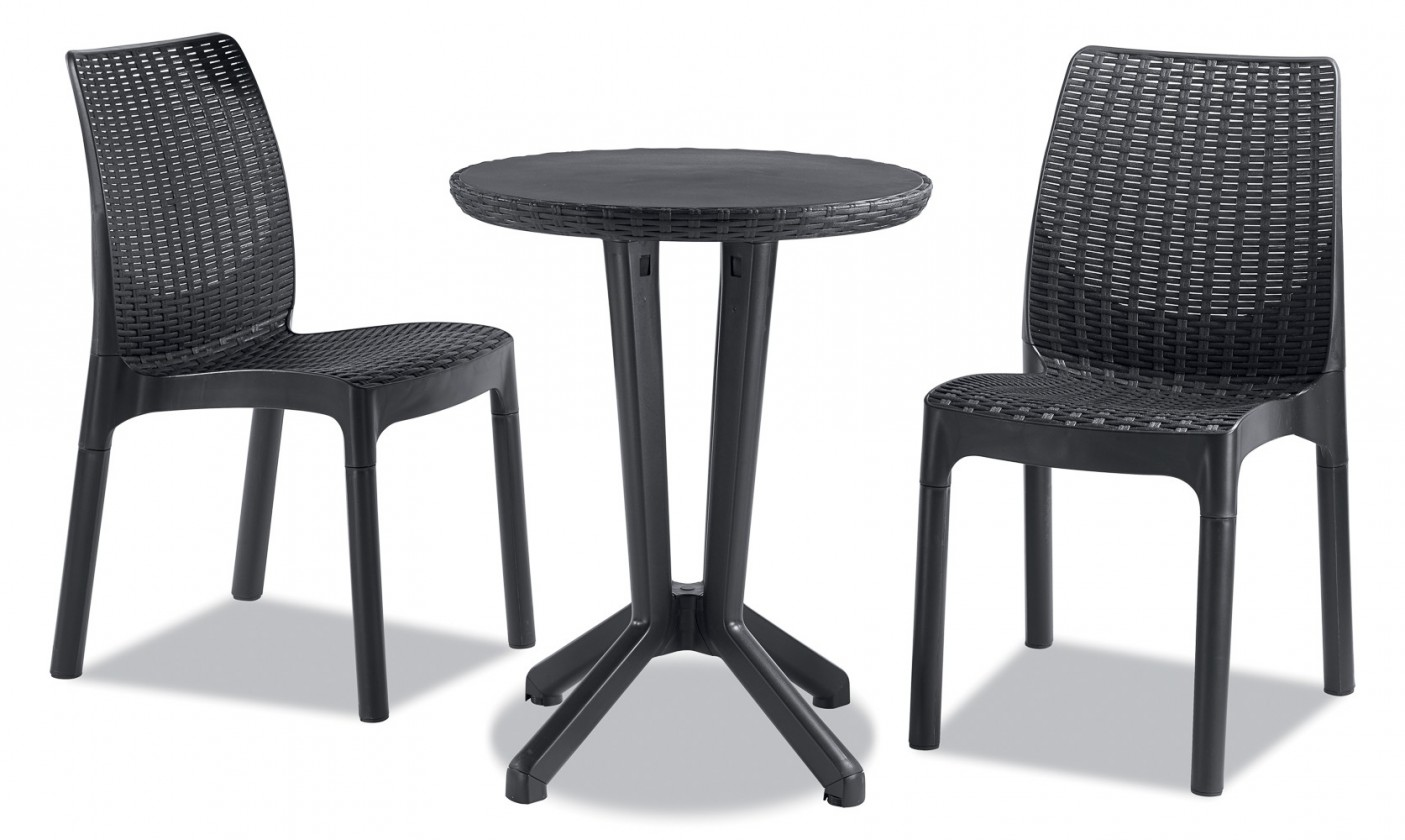 Bistro - Set 2+1 (antracit)