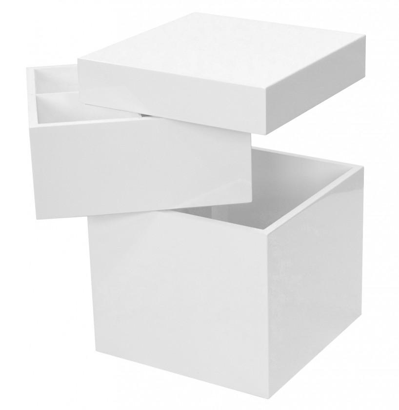 Bloc - Úložný otočný box, 4853-071 (bílá vysoký lesk)