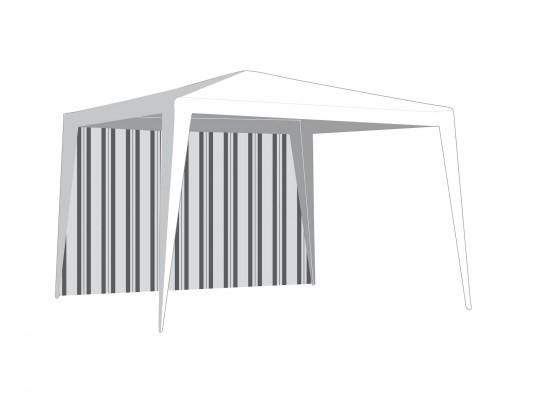 Bočnice zahradního stanu bez okna (bílá, zelená)