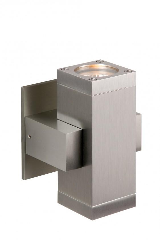 Bok - nástěnné osvětlení, 35W, 2xGU10 (stříbrná)