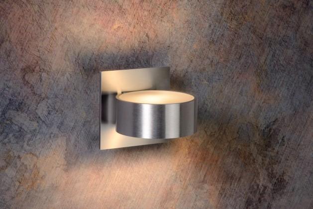 Bok - nástěnné osvětlení, 40W, G9, 11 cm (stříbrná)