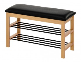 Botník Abrego (dřevo, černá)