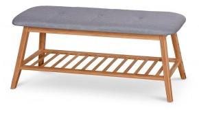 Botník Frontino (dřevo, šedá)