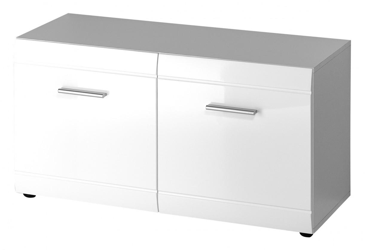 Botník GW-Adana - Botník s lavičkou (bílá)
