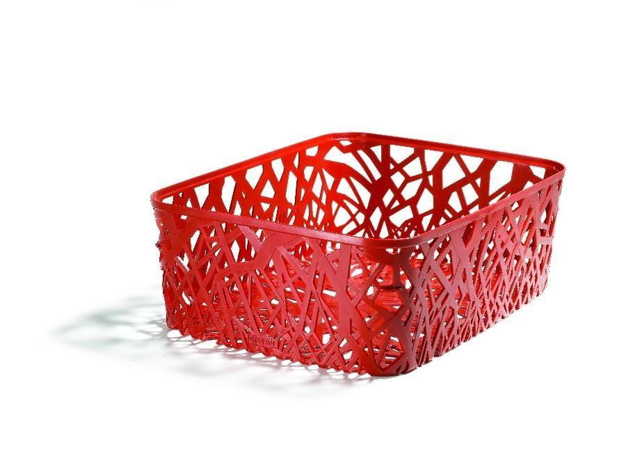 Box úložný (plast, červená)