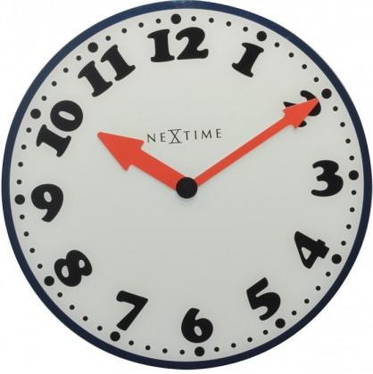 Boy - hodiny, nástěnné, kulaté (mléčné sklo, bílé)