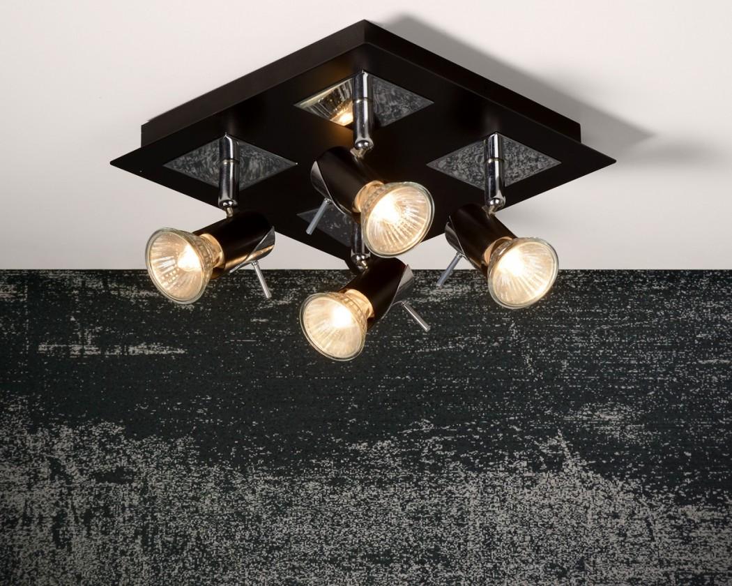 Brackx - stropní osvětlení, 50W, 4xGU10 (černá)