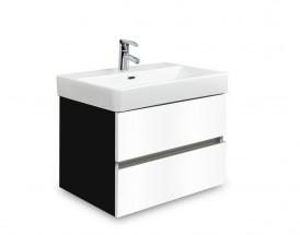 Brisbane - skříň s umyvadlem Laufen Pro S 55cm (černá/bílá)
