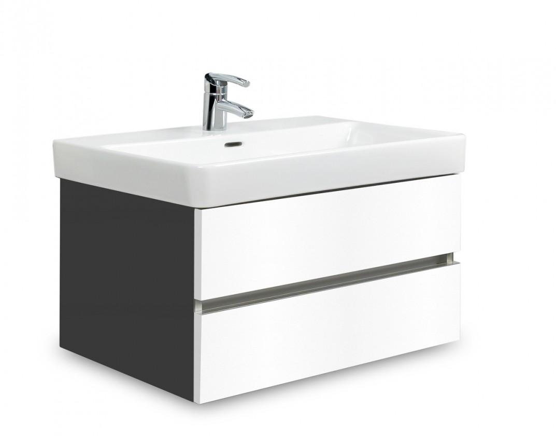 Brisbane - skříň s umyvadlem Laufen Pro S 70cm (antracit/bílá)