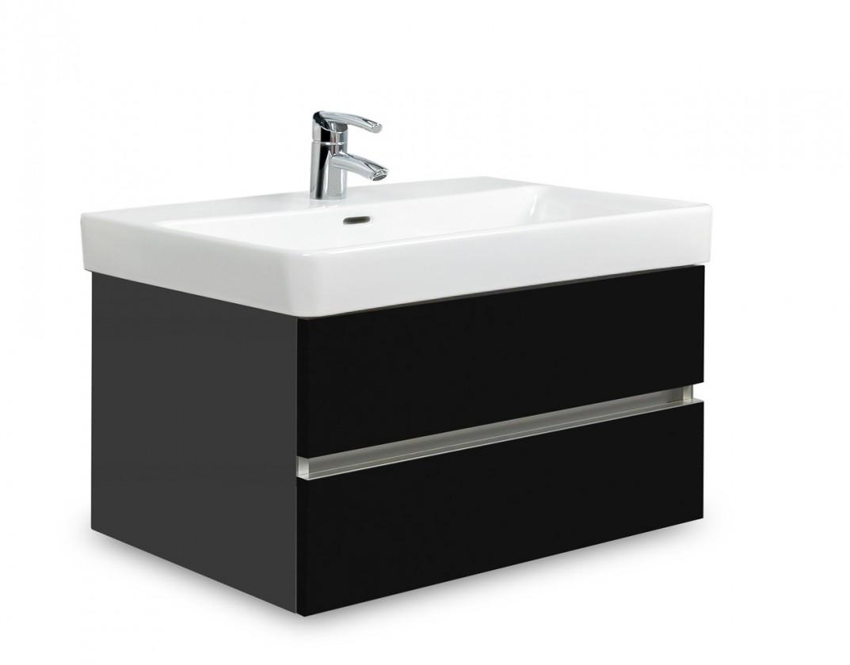 Brisbane - skříň s umyvadlem Laufen Pro S 70cm (antracit/černá)