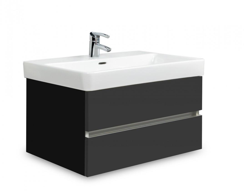 Brisbane - skříň s umyvadlem Laufen Pro S 70cm (černá/antracit)
