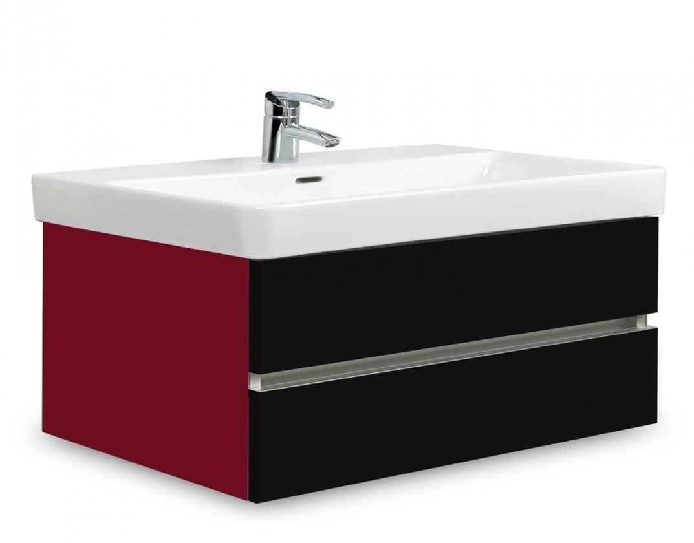 Brisbane - skříň s umyvadlem Laufen Pro S 85cm (bordó/černá)
