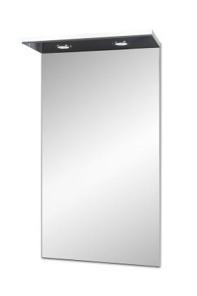 Brisbane - zrcadlová skříň, s LED osvětlením (bílá)