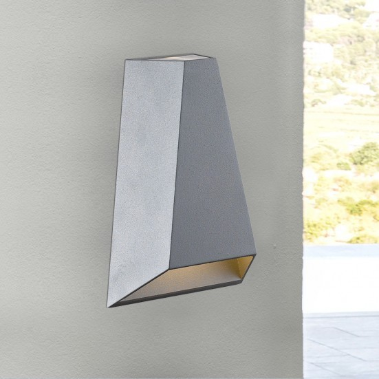 Brook - Nástěnné svítidlo, LED (šedá)