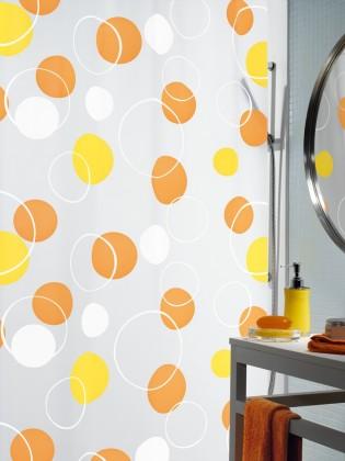 Bubble-Sprchový závěs 180x200 cm(oranžová)