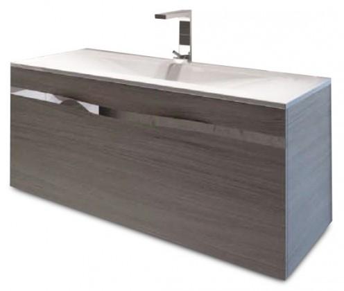 Caen - Skříňka s umyvadlem 100 cm, 1 zásuvka (dub)