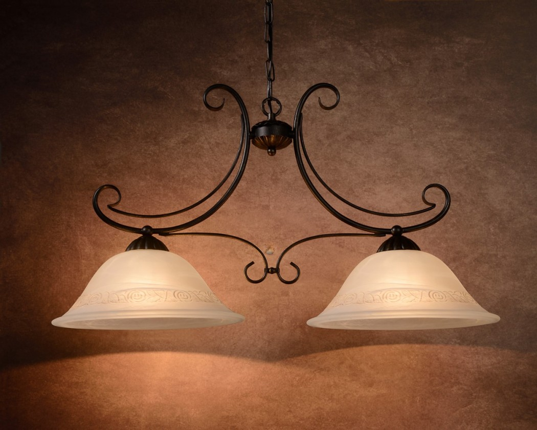 Calabre - stropní osvětlení, 24W, 2xE27 (bronzová)