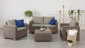 California 2 - Zahradní set, 2sedák, 2x kř., stolek (cappuccino)