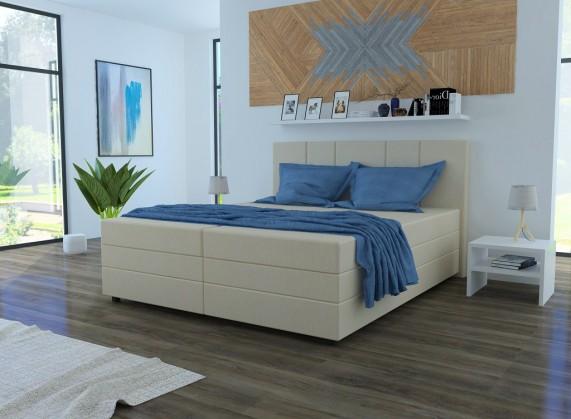 Čalouněná Čalouněná postel Alexa 180x200, vč. matrace a úp, béžová