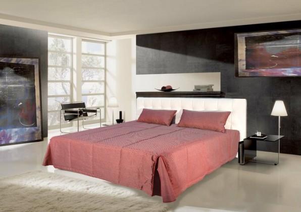 Čalouněná Čalouněná postel Anita 180x200 cm, bílá, s úložným prostorem