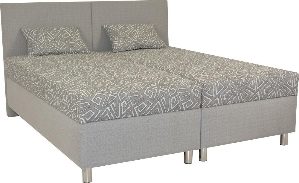 Čalouněná Čalouněná postel Colorado 160x200, šedá, vč. matrace a úp