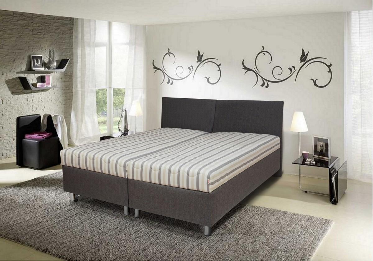 Čalouněná Čalouněná postel Colorado 180x200 cm, šedá, s úložným prostorem
