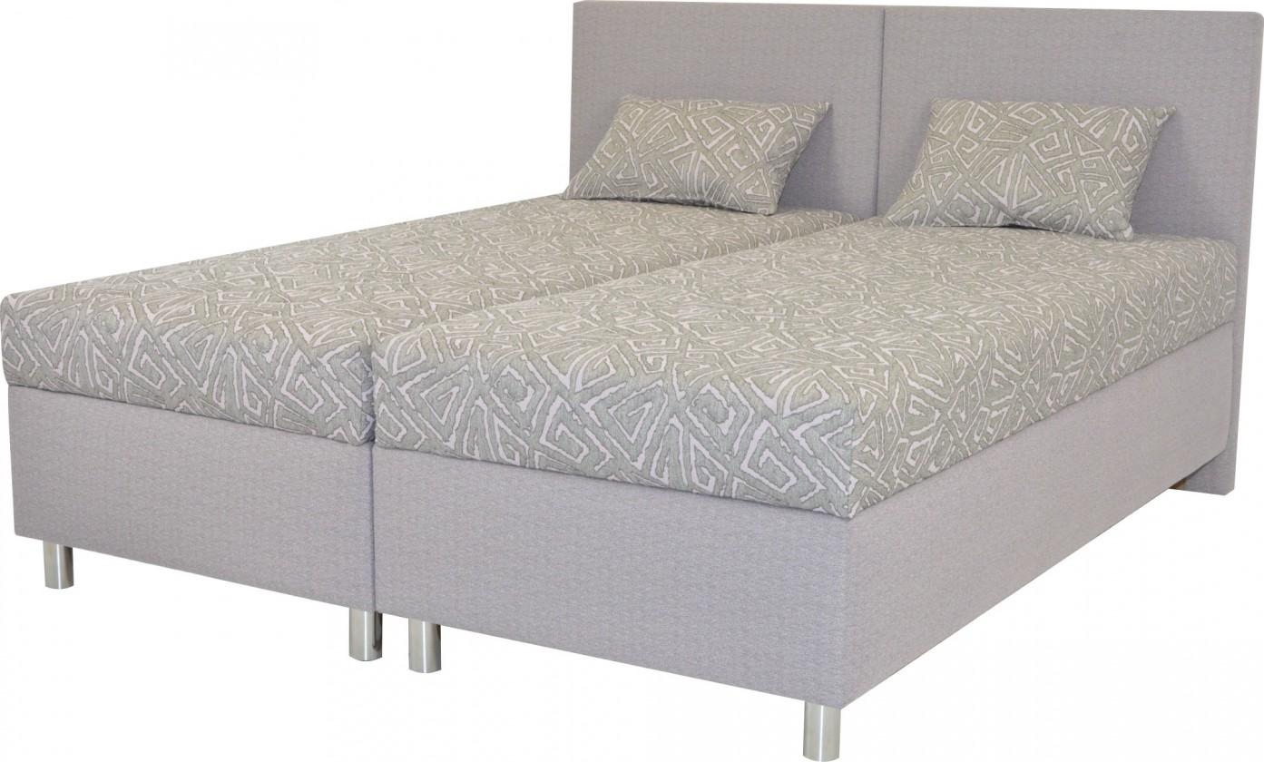 Čalouněná Čalouněná postel Colorado 180x200, šedá, vč. matrace a úp