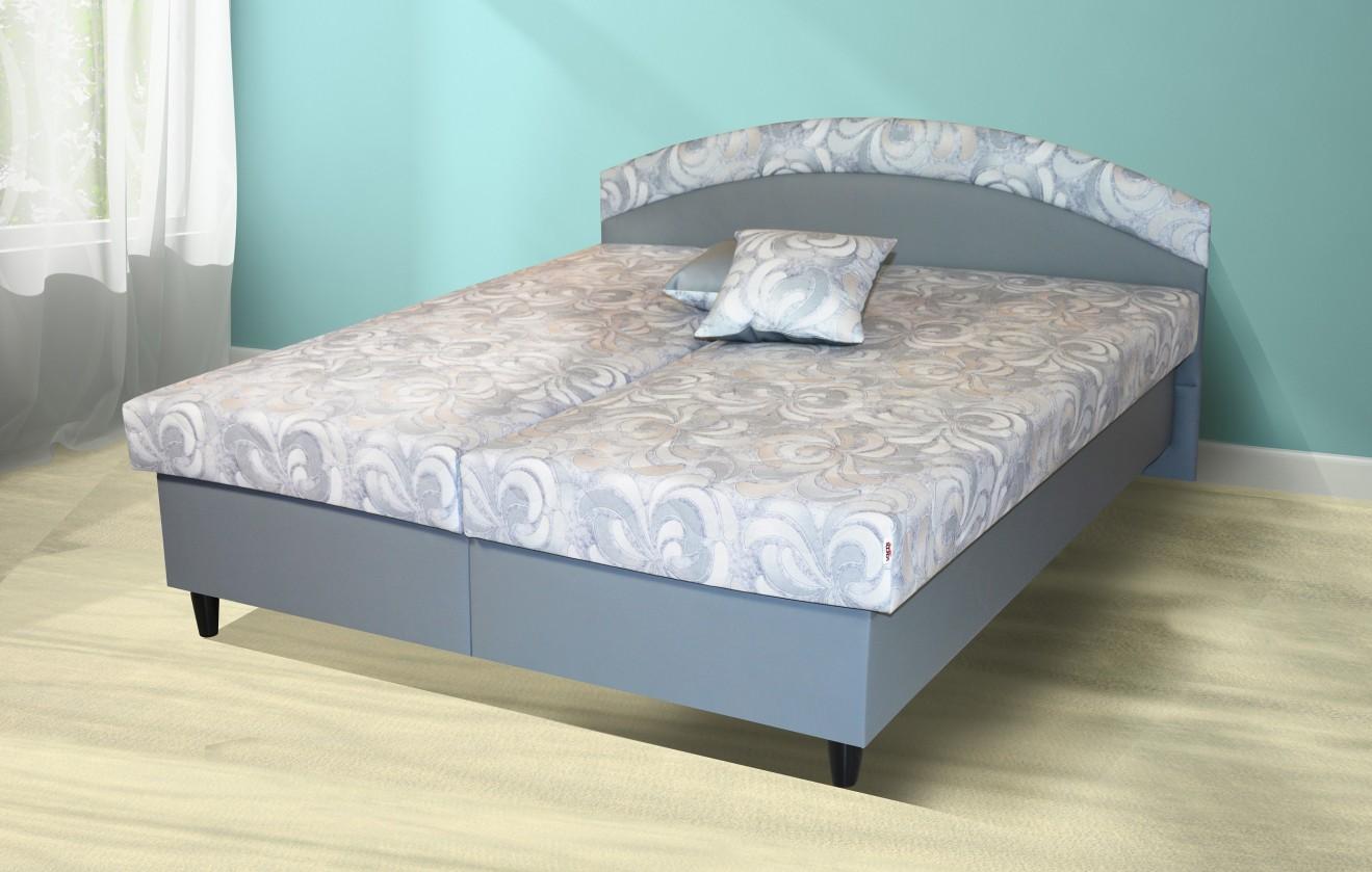 Čalouněná Čalouněná postel Corveta 180x200, šedá, vč. matrace a úp