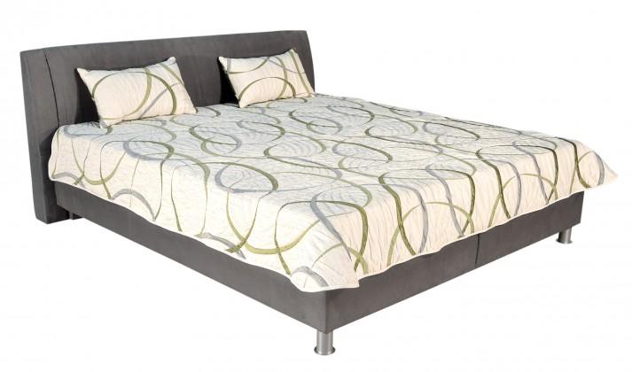 Čalouněná Čalouněná postel Discovery 160x200 cm, šedá, s úložným prostorem