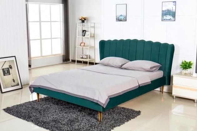 Čalouněná Čalouněná postel Florence 160x200, zelená, včetně roštu