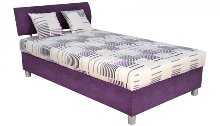 Čalouněná Čalouněná postel George 120x200 cm, fialová, s úložným prostorem