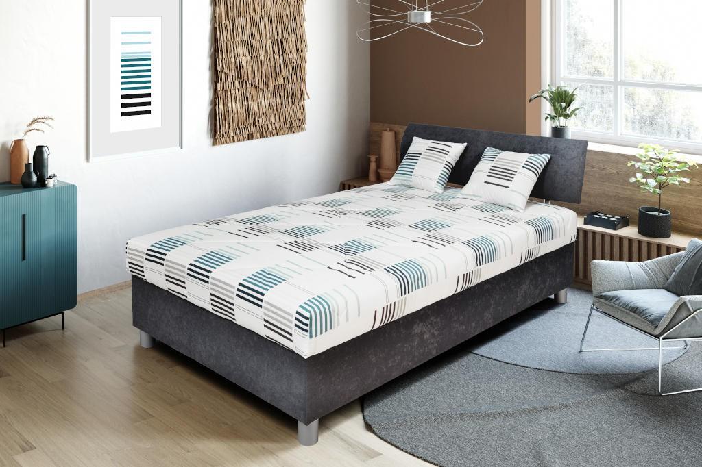 Čalouněná Čalouněná postel George 120x200, šedá, vč. matrace a úp
