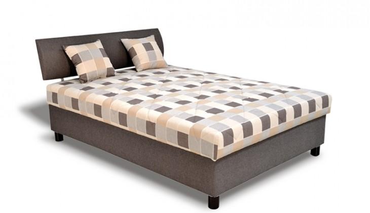 Čalouněná Čalouněná postel George 140x200, hnědá, vč. matrace a úp